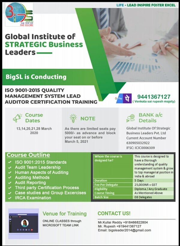 ISO 9001 2015 QMS LEAD AUDITOR TRAINING CERTIFICATE.jpeg